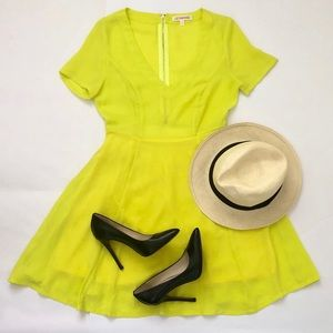 Letherbe Green Lime Dress 👗 Size Small